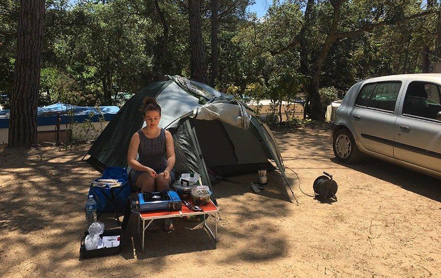 Tenda d'acampada al Càmping Ridaura