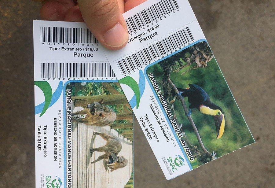 Entrades al Parc Nacional Manuel Antonio