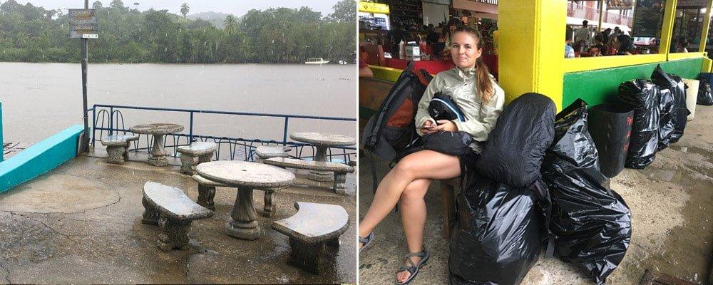 Restaurant Don Jorge, esperant per agafar la barca cap a Drake