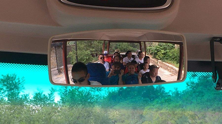 De camí a la Gran Muralla Xinesa en mini bus