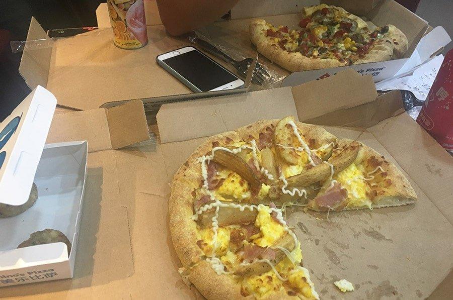 A Xina també es poden trobar Domino's Pizza