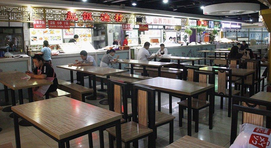 Un dels food courts on vam menjar a Xina