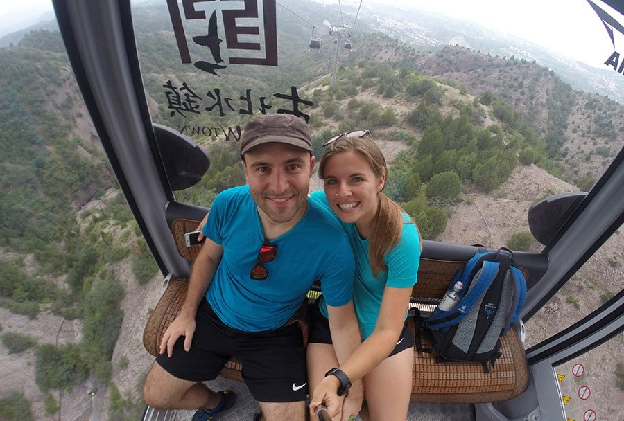 Pujant en telefèric cap a la Gran Muralla Xinesa
