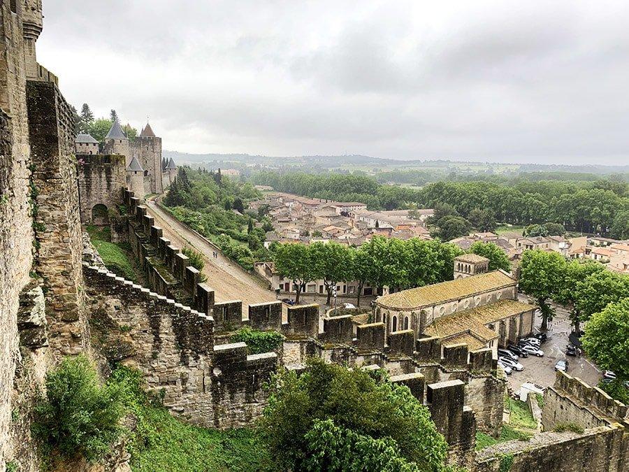 Vistes de la ciutat, des del Castell de Carcasona