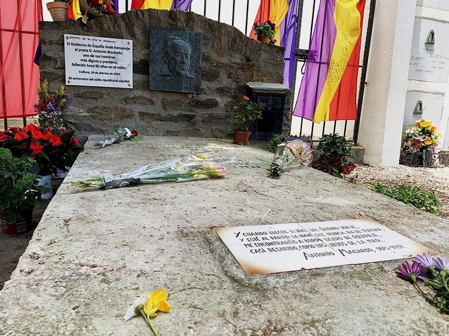 Tomba d'Antonio Machado, Cotlliure