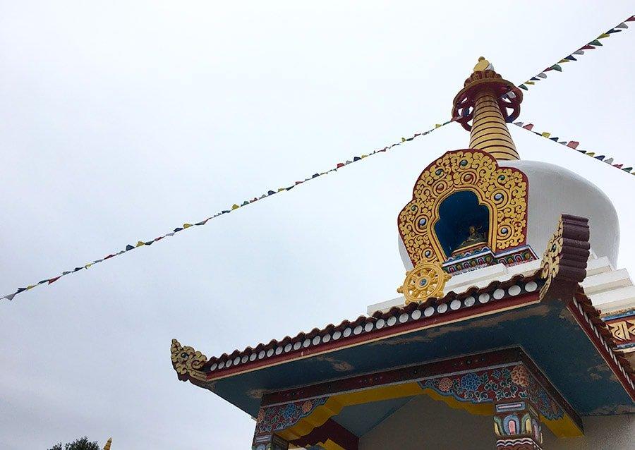 Stupa principal del Centre Budista Dag Shang Kayü de Panillo