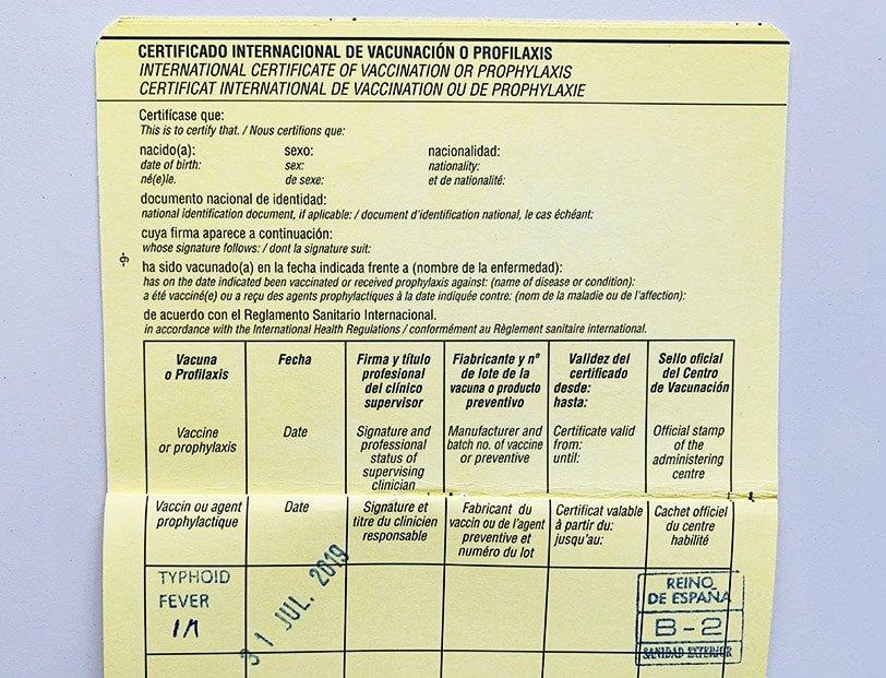 Certificat Internacional de Vacunació