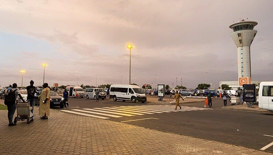 Arribada a l'Aeroport Internacional de Dakar, Senegal