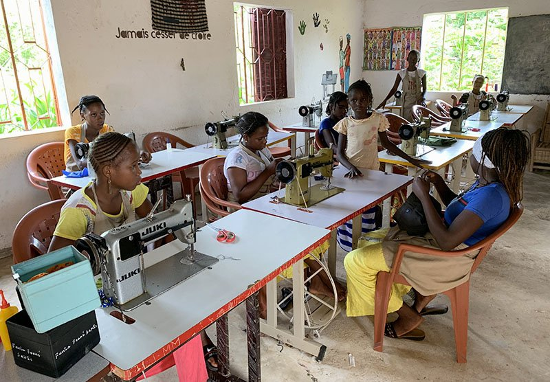 Atelier del campament Tako Mayo al País Bassari