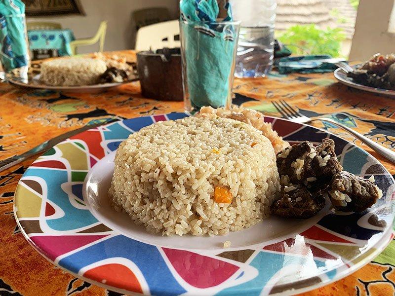 Menjar del campament Tako Mayo al País Bassari